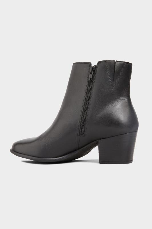 Black Leather Western Ankle Boots In Extra Wide Fit_C1.jpg