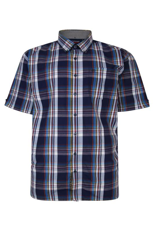 Men's  ESPIONAGE Navy Check Shirt