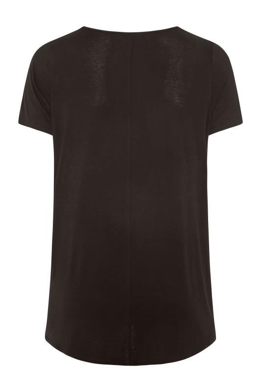 LIMITED COLLECTION Black Leopard Print Colour Block T-Shirt_BK.jpg