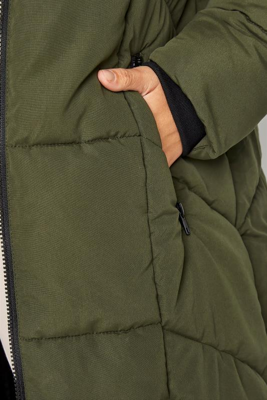 Khaki Longline Puffer Coat_E.jpg