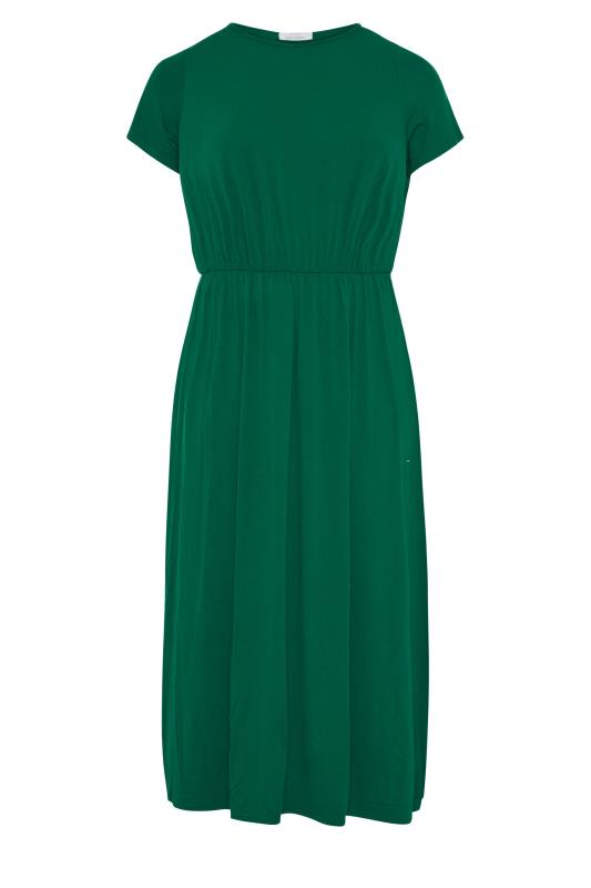 YOURS LONDON Forest Green Pocket Midaxi Dress_F.jpg
