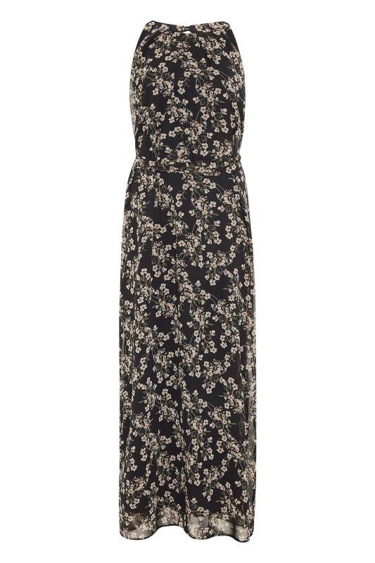 LTS Black Floral Halter Neck Maxi Dress_F.jpg