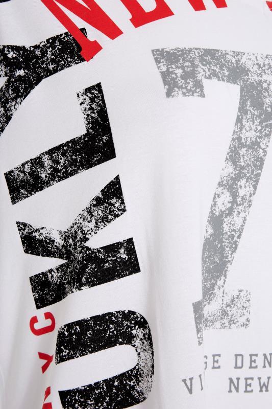 White Printed V-Neck T-Shirt_S.jpg