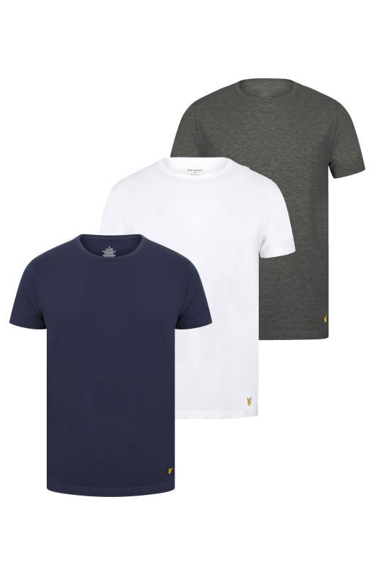 Großen Größen  LYLE & SCOTT Multi 3 Pack Lounge T-Shirts