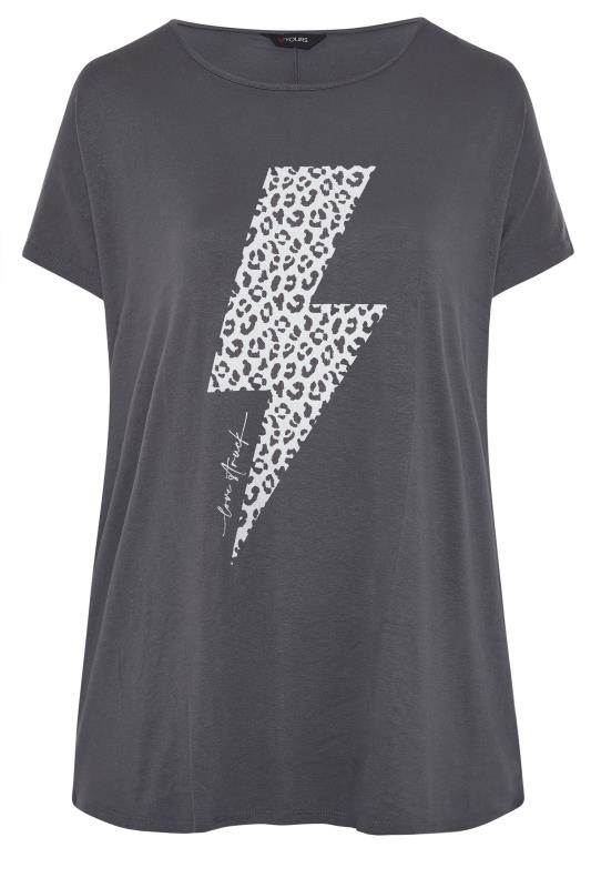 Grey Lightning Bolt Boyfriend T-Shirt_F.jpg
