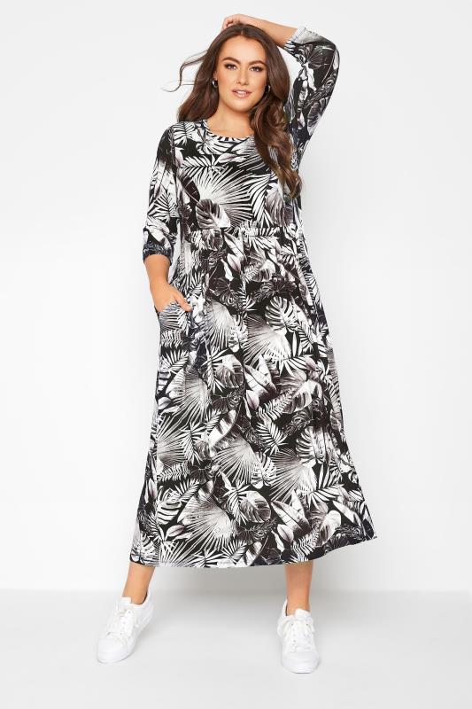 Black Leaf Print Midaxi Dress_A.jpg