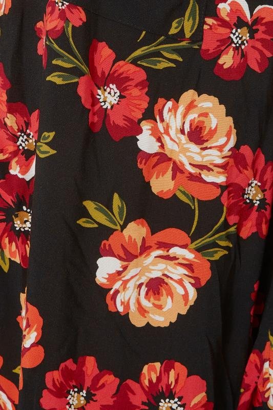 THE LIMITED EDIT Black Floral Smock Tiered Shirt_S.jpg