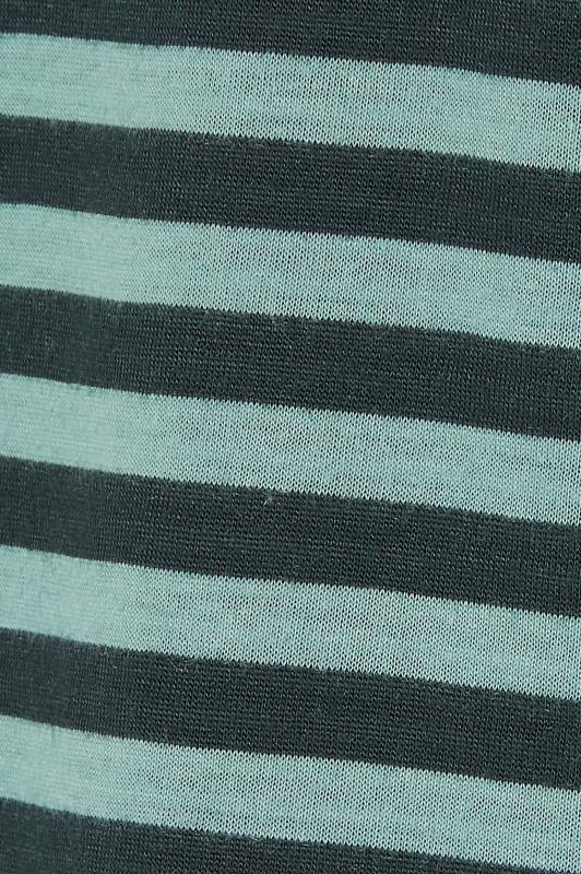Green Stripe 3/4 Length Sleeve Top_S.jpg