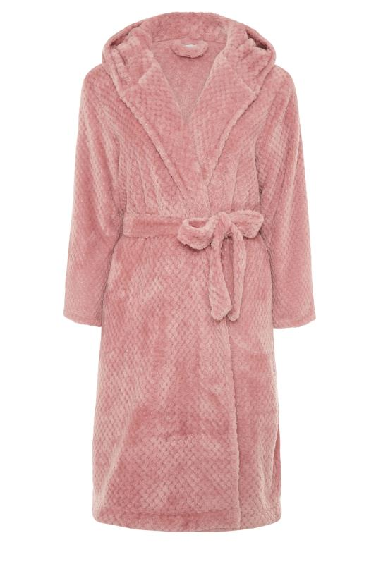 Pink Waffle Hooded Dressing Gown_F.jpg