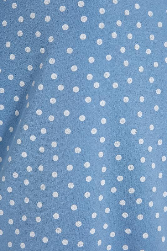 YOURS LONDON Blue Spot Puff Sleeve Bodysuit_S.jpg