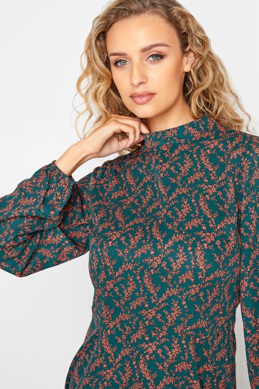 LTS Green Floral Print Fit & Flare Midaxi Dress_D.jpg