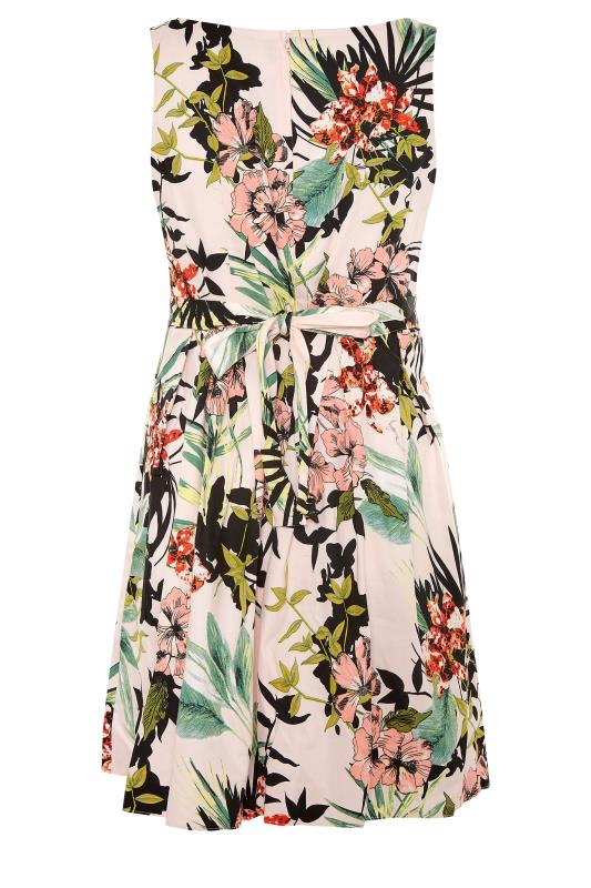 Pink Tropical Print Skater Dress_BK.jpg