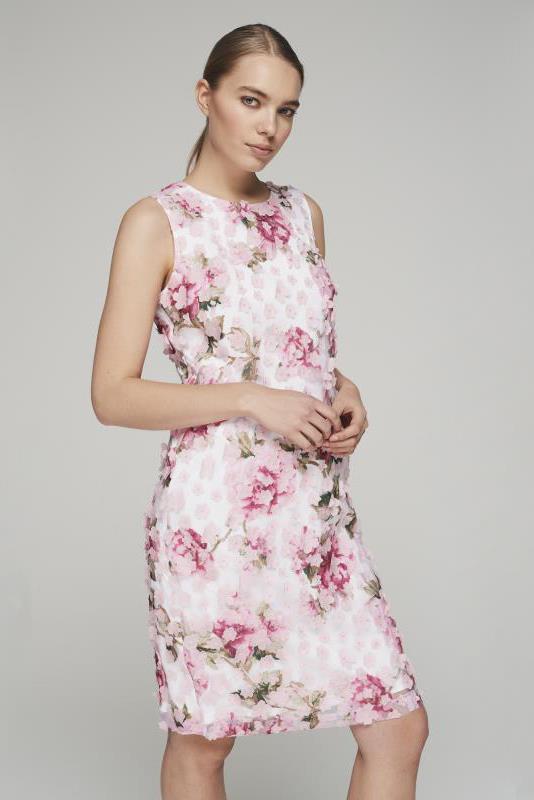 Karl Lagerfeld Paris Floral Applique Dress