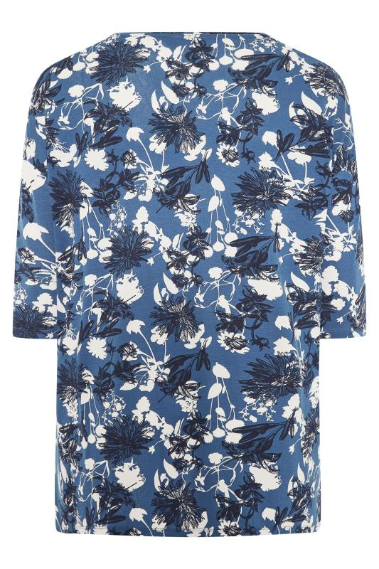 Blue Floral Split Hem Tunic_BK.jpg