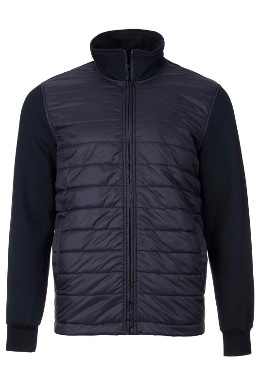 Plus Size  RAGING BULL Navy Padded Jacket