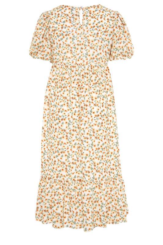 BUMP IT UP MATERNITY Ivory Floral Puff Sleeve Smock Dress_BK.jpg