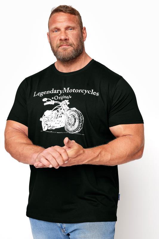 BadRhino Black Legendary Motorcycles Graphic Print T-Shirt