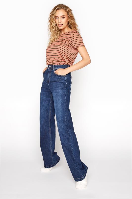 Dark Blue Wide Leg Jeans