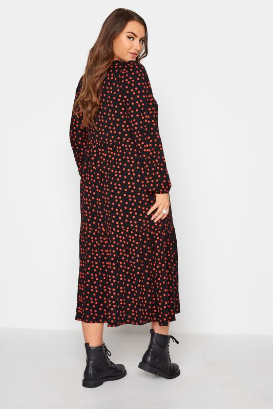 Black Polka Dot Peplum Midaxi Dress_C.jpg