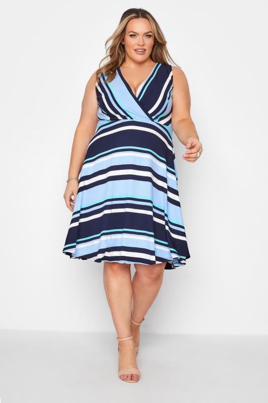 Light Blue Stripe Wrap Skater Dress_A.jpg