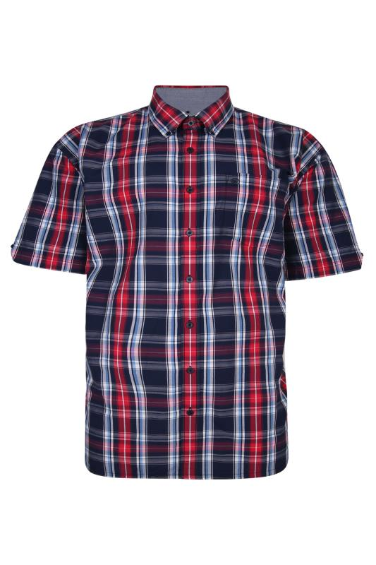 Plus Size  ESPIONAGE Red Check Shirt