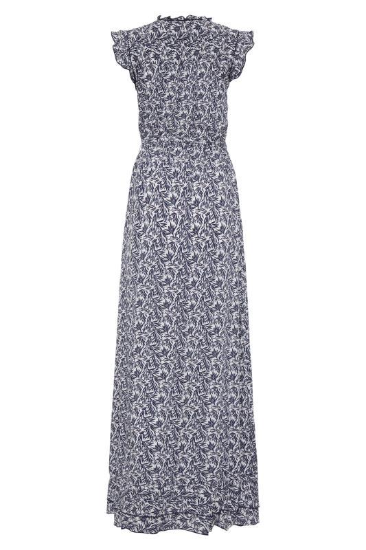 LTS Blue Leaf Print Maxi Dress_BK.jpg