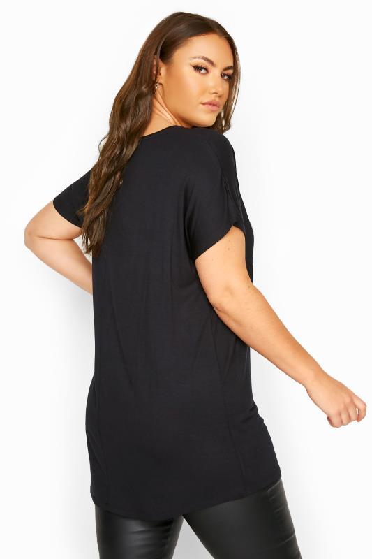 Black Embellished 'Naughty or Nice' Slogan Christmas T-Shirt_C.jpg