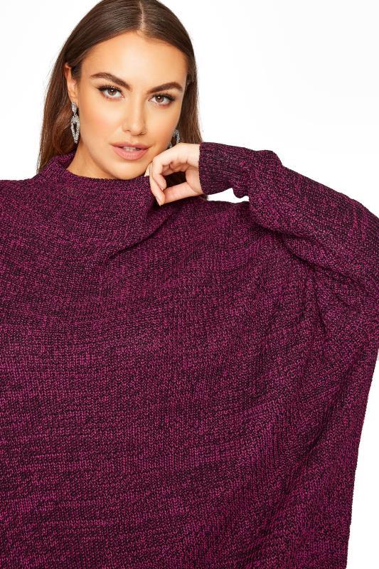 Plum Oversized Knitted Jumper_D.jpg
