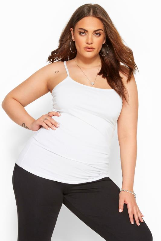 Plus Size Vests & Camis White Cami Vest Top