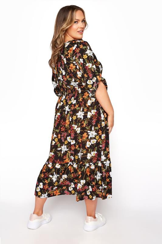 Black Floral Turn Back Sleeve Midi Dress_C.jpg