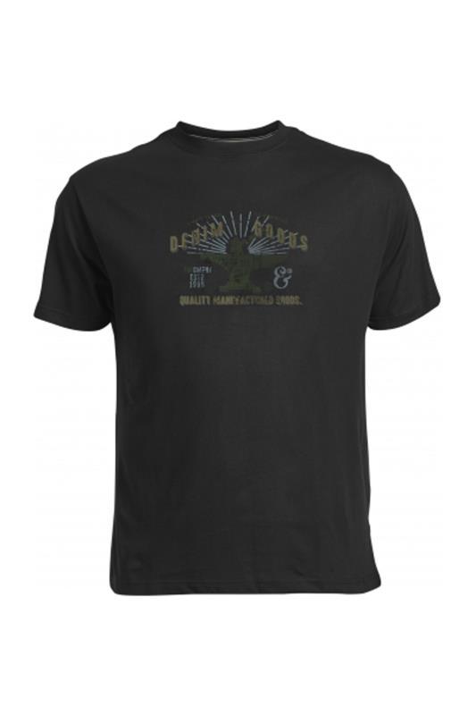 Plus Size  REPLIKA Black Denim Goods Printed T-Shirt