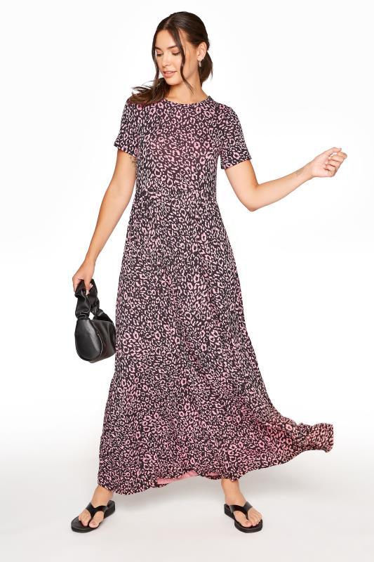 LTS Pink Animal Print Tiered Midaxi Dress_B.jpg