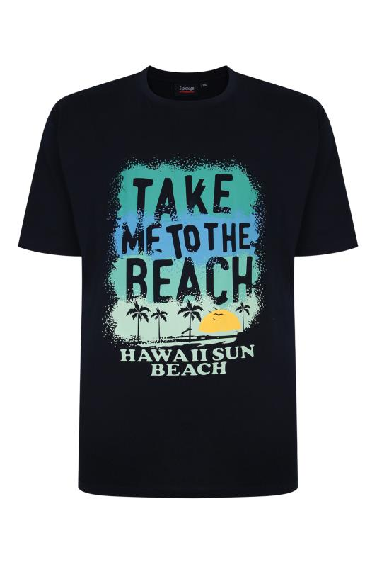 Plus Size  ESPIONAGE Navy Hawaii Sun Print T-Shirt