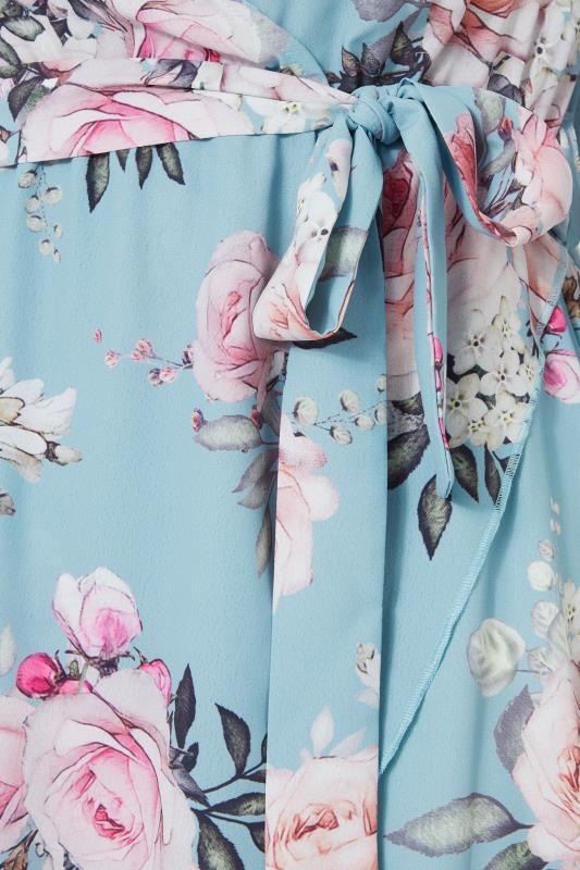 YOURS LONDON Blue Floral Wrap Midi Dress_D.jpg