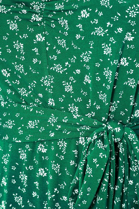 YOURS LONDON Green Ditsy Sweetheart Top_S.jpg