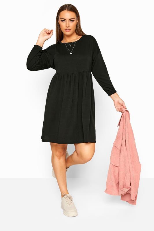 LIMITED COLLECTION Black Peplum Sweatshirt Dress