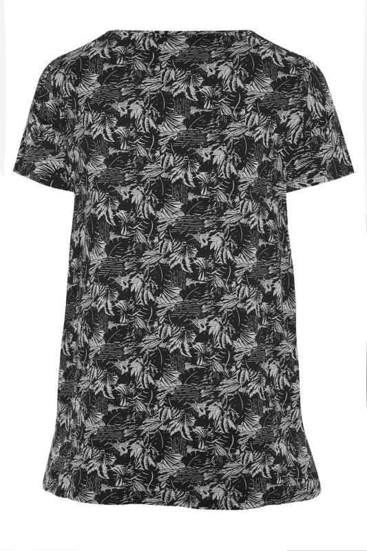 Black Leaf Print T-Shirt_BK.jpg