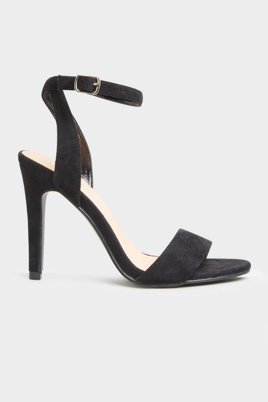 LIMITED COLLECTION Black Strappy Two Part Heels In Extra Wide Fit_A.jpg