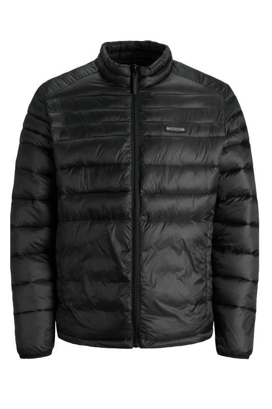 Men's  JACK & JONES Black Puffer Jacket