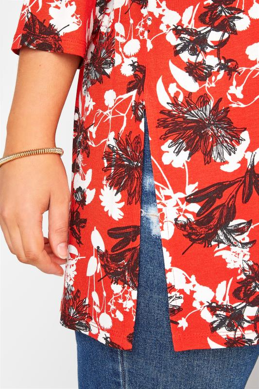 Red Floral Split Hem Tunic_D.jpg