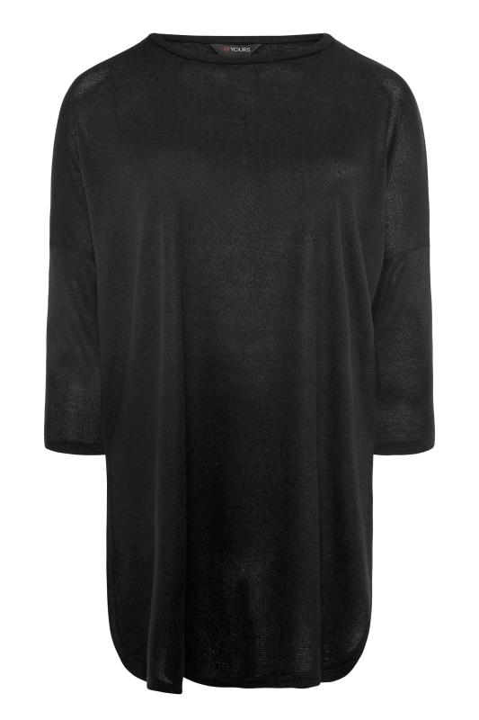 Black Extreme Dip Back Knitted Top_F.jpg