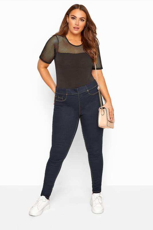 Jeggings Grande Taille Indigo Blue Pull On JENNY Jeggings