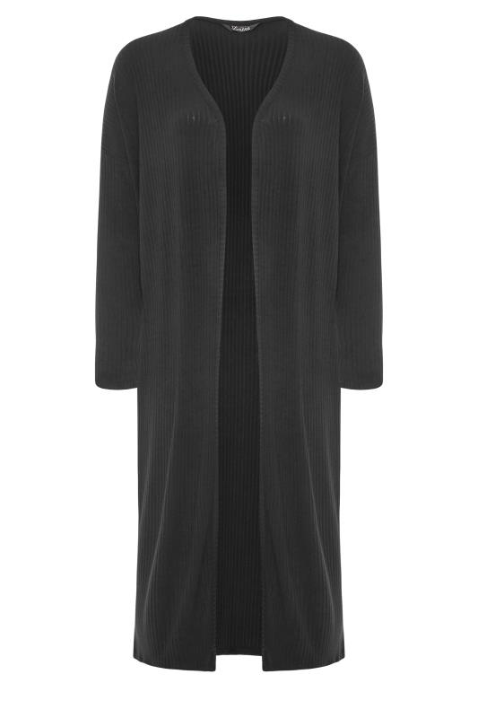 LIMITED COLLECTION Black Ribbed Cardigan_F.jpg