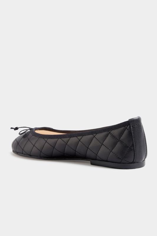 LTS Black Leather Quilted Ballet Pumps_D.jpg