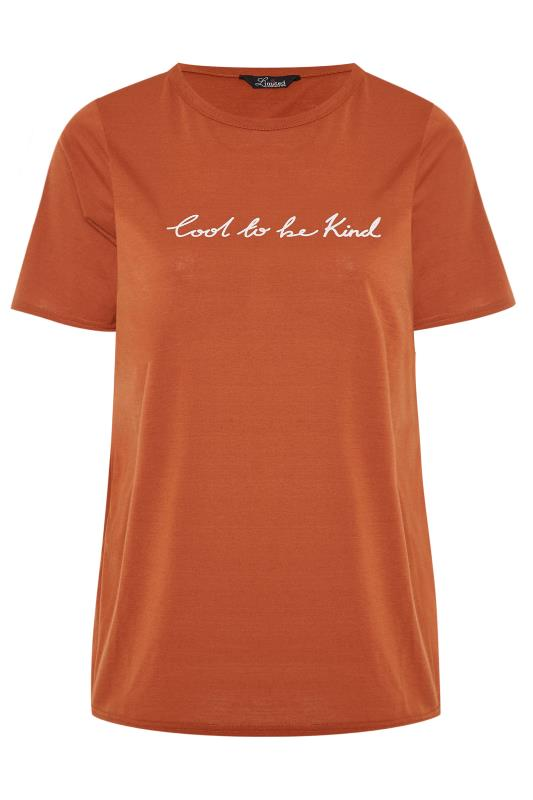 LIMITED COLLECTION Rust 'Cool To Be Kind' Slogan Top