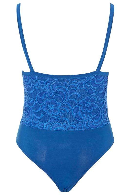 LIMITED COLLECTION Cobalt Blue Scalloped Lace Bodysuit
