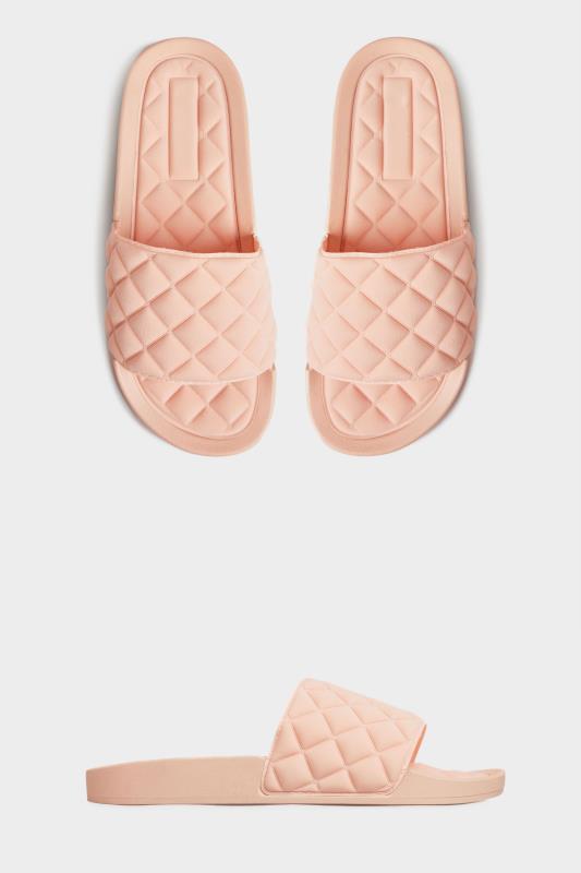 Pinkfarbene gepolsterte Pantoletten