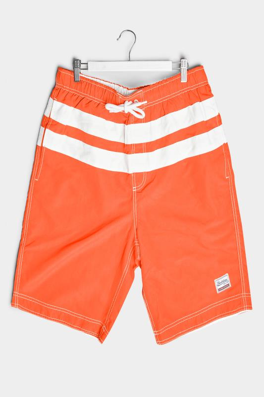 Men's  BadRhino Orange Panel Swim Shorts