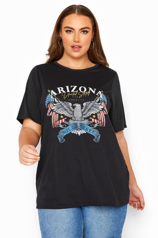 LIMITED COLLECTION Black Eagle Arizona Slogan T-Shirt