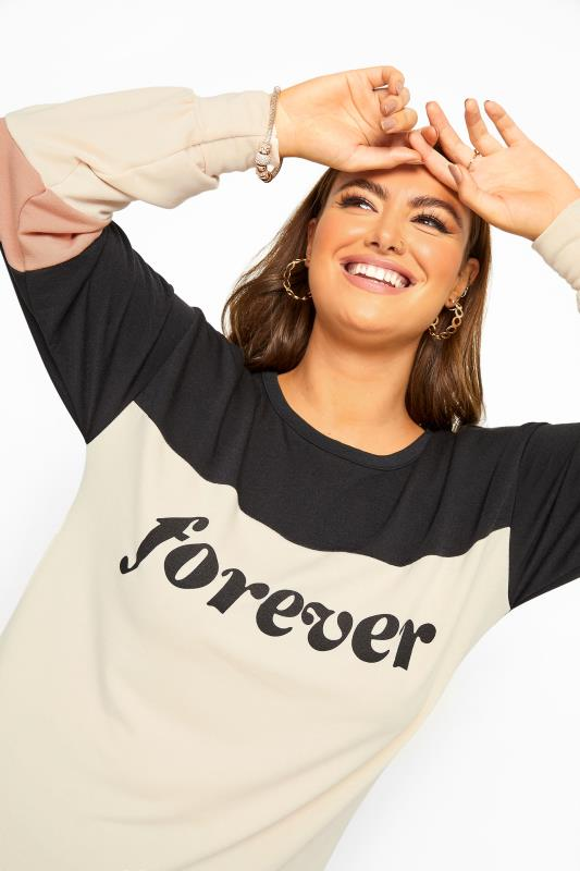 LIMITED COLLECTION Black & Nude 'Forever' Slogan Sweatshirt